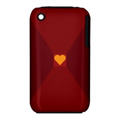 Heart Red Yellow Love Card Design iPhone 3S/3GS