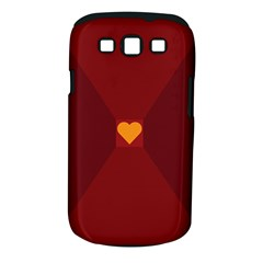 Heart Red Yellow Love Card Design Samsung Galaxy S III Classic Hardshell Case (PC+Silicone)