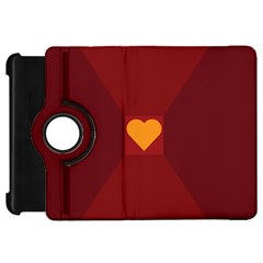 Heart Red Yellow Love Card Design Kindle Fire HD 7
