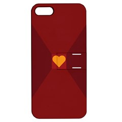 Heart Red Yellow Love Card Design Apple iPhone 5 Hardshell Case with Stand