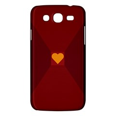 Heart Red Yellow Love Card Design Samsung Galaxy Mega 5 8 I9152 Hardshell Case