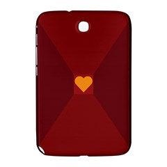 Heart Red Yellow Love Card Design Samsung Galaxy Note 8.0 N5100 Hardshell Case