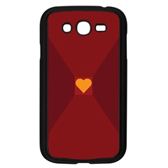 Heart Red Yellow Love Card Design Samsung Galaxy Grand Duos I9082 Case (black)