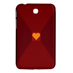 Heart Red Yellow Love Card Design Samsung Galaxy Tab 3 (7 ) P3200 Hardshell Case
