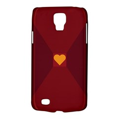 Heart Red Yellow Love Card Design Galaxy S4 Active
