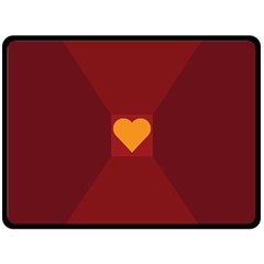 Heart Red Yellow Love Card Design Double Sided Fleece Blanket (large)