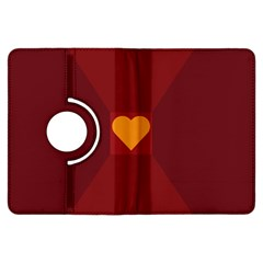 Heart Red Yellow Love Card Design Kindle Fire Hdx Flip 360 Case