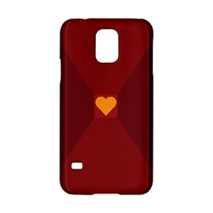 Heart Red Yellow Love Card Design Samsung Galaxy S5 Hardshell Case