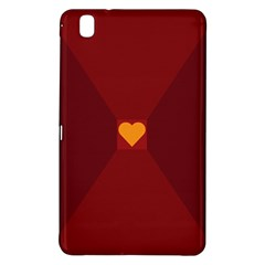 Heart Red Yellow Love Card Design Samsung Galaxy Tab Pro 8 4 Hardshell Case