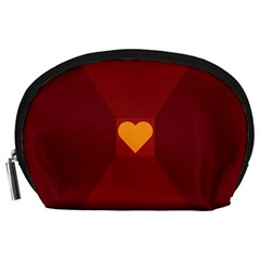 Heart Red Yellow Love Card Design Accessory Pouches (large)