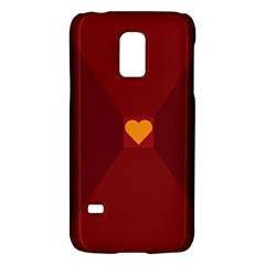 Heart Red Yellow Love Card Design Galaxy S5 Mini