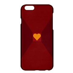 Heart Red Yellow Love Card Design Apple iPhone 6 Plus/6S Plus Hardshell Case