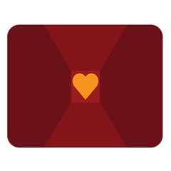 Heart Red Yellow Love Card Design Double Sided Flano Blanket (Large)
