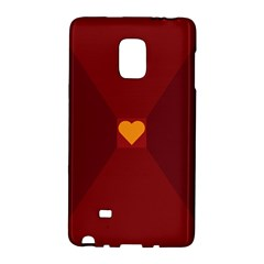 Heart Red Yellow Love Card Design Galaxy Note Edge
