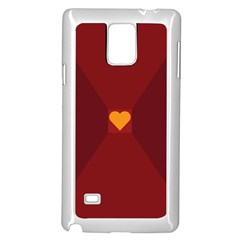 Heart Red Yellow Love Card Design Samsung Galaxy Note 4 Case (white)