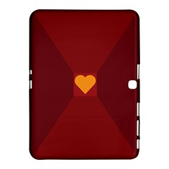 Heart Red Yellow Love Card Design Samsung Galaxy Tab 4 (10.1 ) Hardshell Case