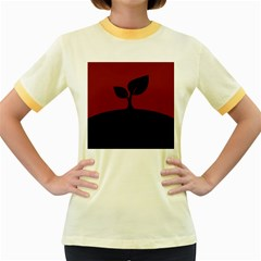 Plant Last Plant Red Nature Last Women s Fitted Ringer T-Shirts