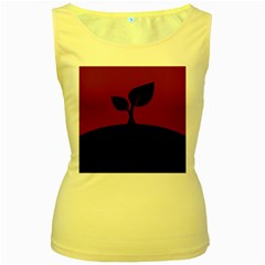 Plant Last Plant Red Nature Last Women s Yellow Tank Top