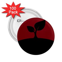 Plant Last Plant Red Nature Last 2.25  Buttons (100 pack)