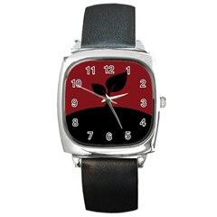 Plant Last Plant Red Nature Last Square Metal Watch