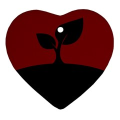 Plant Last Plant Red Nature Last Heart Ornament (Two Sides)