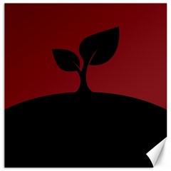 Plant Last Plant Red Nature Last Canvas 16  x 16