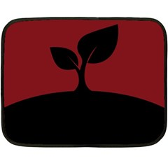 Plant Last Plant Red Nature Last Double Sided Fleece Blanket (mini)