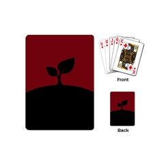 Plant Last Plant Red Nature Last Playing Cards (mini)