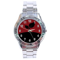 Plant Last Plant Red Nature Last Stainless Steel Analogue Watch