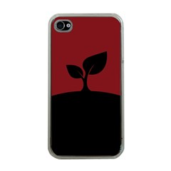Plant Last Plant Red Nature Last Apple iPhone 4 Case (Clear)