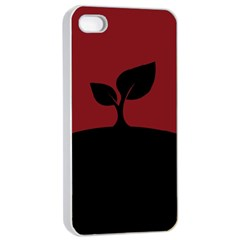Plant Last Plant Red Nature Last Apple Iphone 4/4s Seamless Case (white)