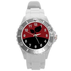 Plant Last Plant Red Nature Last Round Plastic Sport Watch (l)