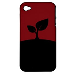 Plant Last Plant Red Nature Last Apple Iphone 4/4s Hardshell Case (pc+silicone)