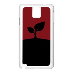 Plant Last Plant Red Nature Last Samsung Galaxy Note 3 N9005 Case (white)