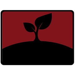 Plant Last Plant Red Nature Last Double Sided Fleece Blanket (large)