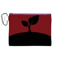 Plant Last Plant Red Nature Last Canvas Cosmetic Bag (xl)