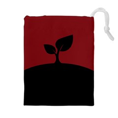 Plant Last Plant Red Nature Last Drawstring Pouches (Extra Large)