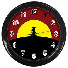 Samurai Warrior Japanese Sword Wall Clocks (Black)
