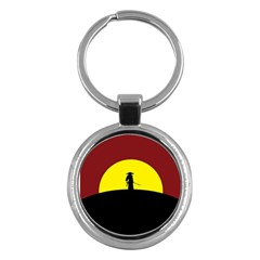 Samurai Warrior Japanese Sword Key Chains (Round)