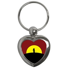 Samurai Warrior Japanese Sword Key Chains (Heart)
