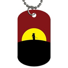 Samurai Warrior Japanese Sword Dog Tag (two Sides)