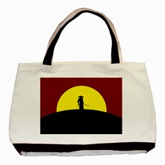 Samurai Warrior Japanese Sword Basic Tote Bag