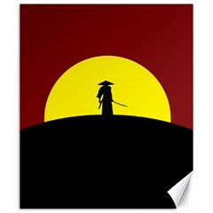 Samurai Warrior Japanese Sword Canvas 20  x 24
