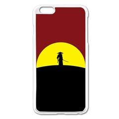 Samurai Warrior Japanese Sword Apple Iphone 6 Plus/6s Plus Enamel White Case