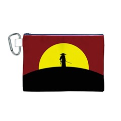Samurai Warrior Japanese Sword Canvas Cosmetic Bag (m)