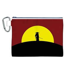 Samurai Warrior Japanese Sword Canvas Cosmetic Bag (l)