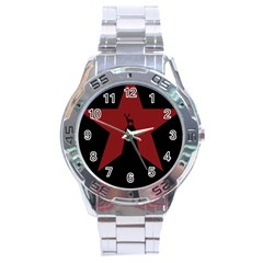 Buck Dear Animal Character Nature Stainless Steel Analogue Watch
