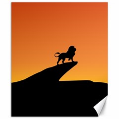 Lion Sunset Wildlife Animals King Canvas 8  X 10