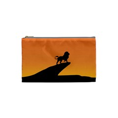 Lion Sunset Wildlife Animals King Cosmetic Bag (Small)