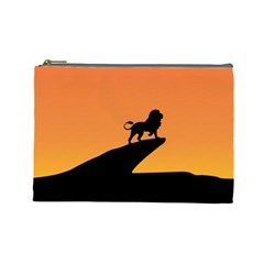 Lion Sunset Wildlife Animals King Cosmetic Bag (large)